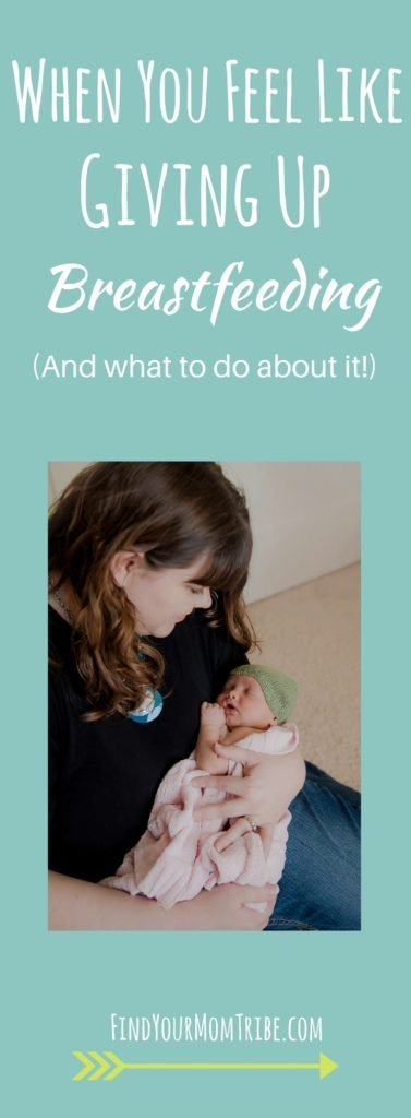 Have you ever felt like giving up breastfeeding? Here's some breastfeeding encouragement. Plus 7 tips to help you keep going!