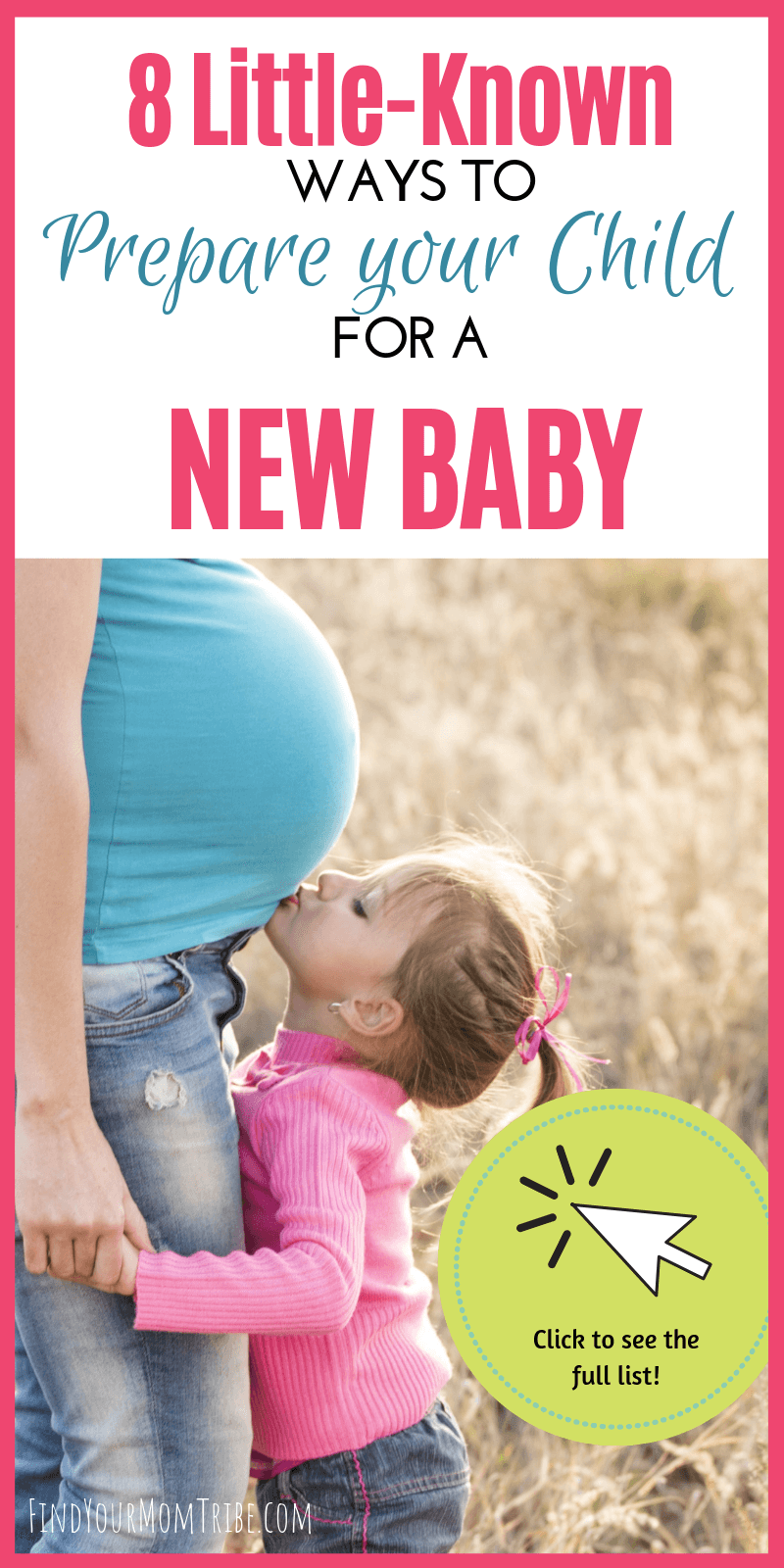 Nervous about how to prepare your toddler for new baby? Check out these 8 little-known tricks for preparing your child for a new baby to help them adjust for a smoother transition. #newbaby #siblings #findyourmomtribe
