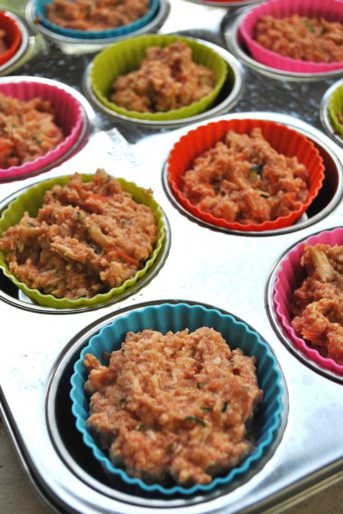 chicken muffins with hidden veggies