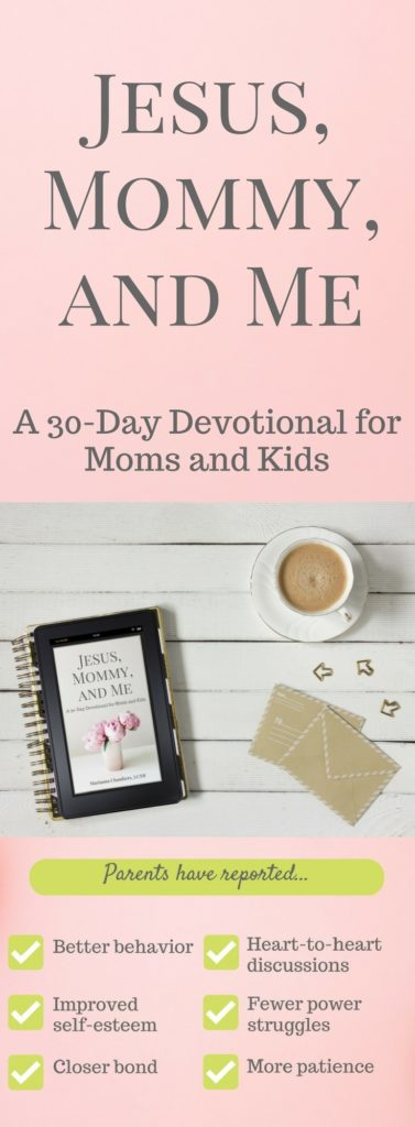 Jesus, Mommy, and Me is a children's devotional unlike any other. This book helps you build a closer bond between you and your child, as well as helps you nurture your child's spiritual and emotional health. Click to learn more!