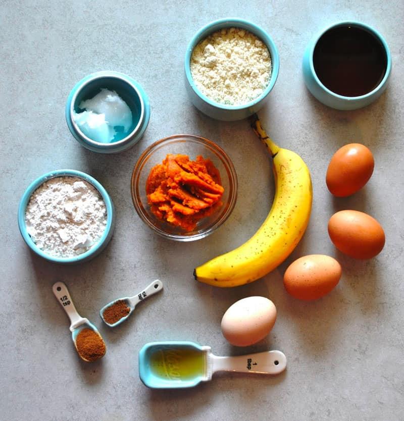 Paleo Pumpkin Spice Muffins Ingredients