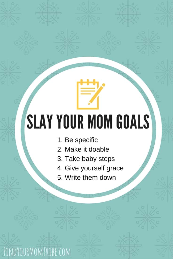 Click to read 5 tips to slay your mom goals this New Year! Plus, 4 New Year's Resolutions most moms make (and how to actually keep them this year!) #newyears #newyearsresolutions #newyearsgoals #slayyourgoals #momgoals #momlife
