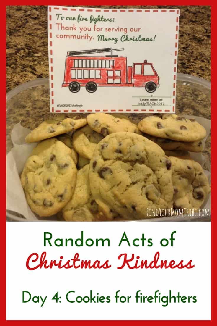 SO fun! I love the idea of spreading Random Acts of Christmas Kindness, especially baking cookies for our local firefighters! #RAOK #RandomActsofKindness #RandomActsofKindness #FreeChristmasPrintables #FunChristmasIdeas #Christmas
