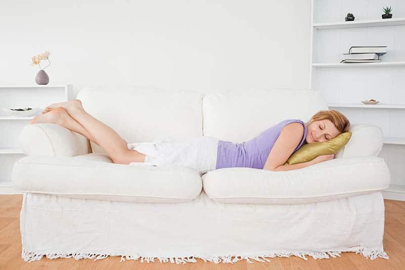 woman taking a break