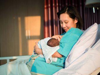 nursing mom in a hospital