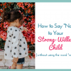 "How to Say ""No"" To Your Strong-Willed Child (without using the word ""no""!)"