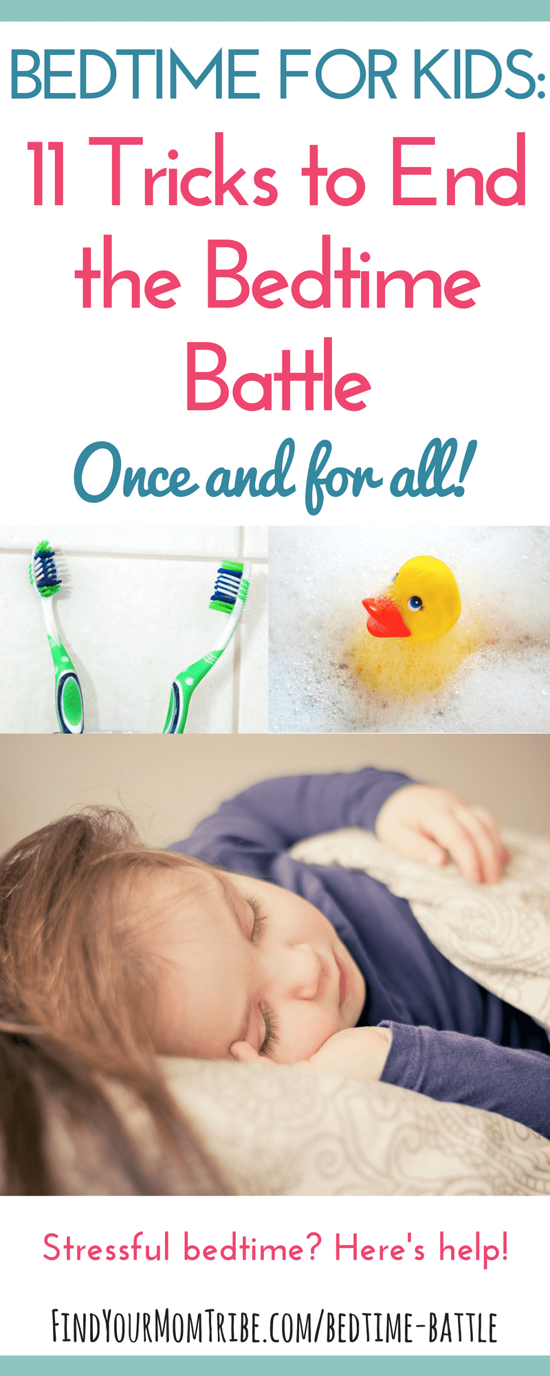 These are the BEST tips for a more peaceful bedtime routine! Bedtime for kids doesn't have to be stressful! Read article at: findyourmomtribe.com/bedtime-battle | Bedtime battles | Bedtime routine kids | Bedtime for kids | Kids sleep | Sleep tips for kids | kids sleep