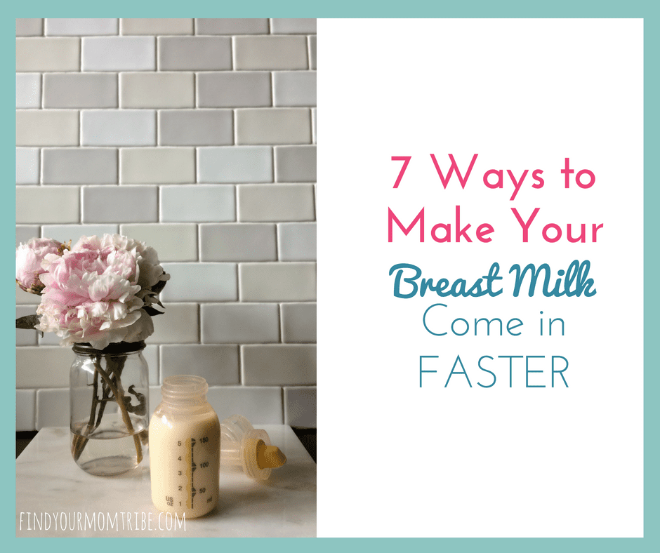 How to Make your Breast Milk Come in FASTER - She did these 7 things to make her milk come in 24 hours sooner!