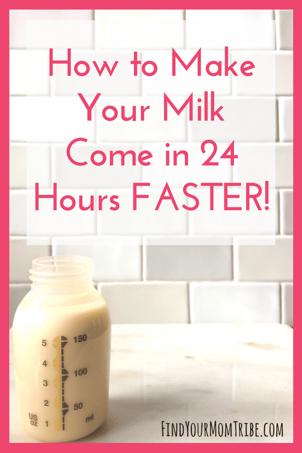 I wish I had known how to make your breast milk come in sooner! If there's a delay in your breast milk coming in, or if you're preparing to breastfeed before baby arrives, these tips are a must-read. #breastfeeding Breastfeeding tips | Low milk supply | common breastfeeding problems | breastfeeding and pumping | pump more milk | read at: findyourmomtribe.com/breast-milk-come-in