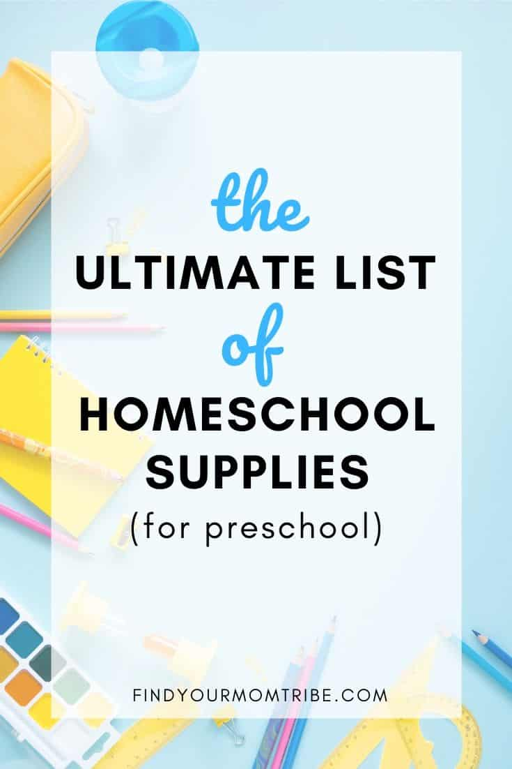 Must-Have Supplies for Homeschooling Preschool