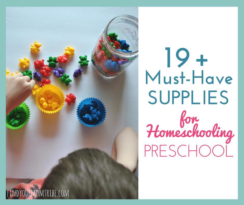 The ultimate list of supplies for homeschooling preschool