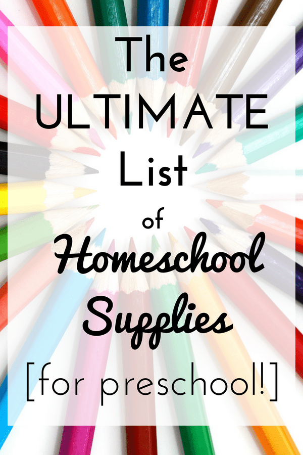Thinking of homeschooling your preschooler? This is a GREAT list of all the little-known things you need for homeschooling. Snag these items while the back-to-school sales are going on! The best thing is, these homeschool items are great for preschool AND kindergarten too! How to start homeschooling   homeschool supplies preschool   preschool curriculum   home school preschool   preschool at home