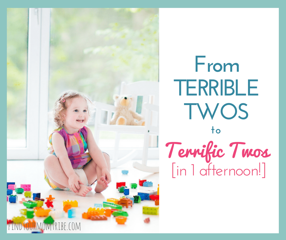 From Terrible Twos to Terrific Twos in just one afternoon