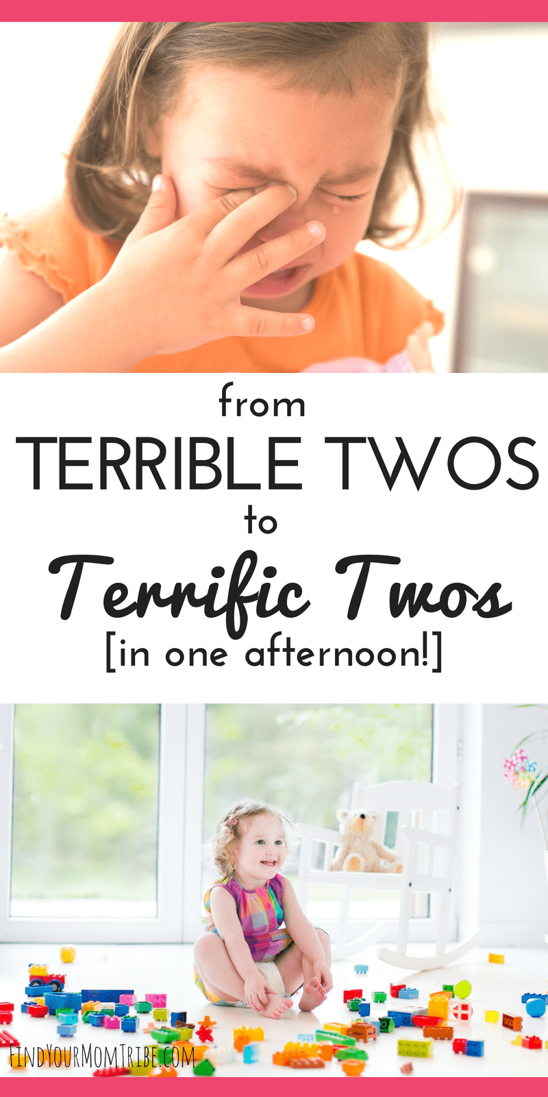 "In just one afternoon you can turn those ""terrible twos"" into terrific twos! Dealing with an opinionated, tantruming two-year-old can be a challenge for moms who are into peaceful parenting. But the answer may be easier than you think. Read the full article to get tips for managing the terrible twos ...and learn how we tamed the tantrums in just one afternoon. peaceful parenting 
