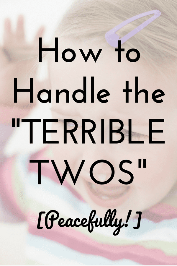 Dealing with an opinionated, tantruming two-year-old can be a challenge for moms who are into peaceful parenting. But the answer may be easier than you think. Read the full article to get tips for managing the terrible twos ...and learn how we tamed the tantrums in just one afternoon. peaceful parenting | terrible twos | terrific twos | toddler tantrums | positive parenting | gentle parenting | findyourmomtribe.com/terrible-twos