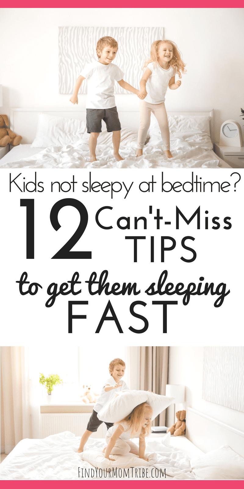 kids not sleepy at bedtime