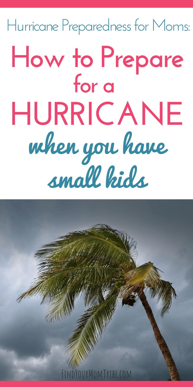 hurricane preparedness for moms
