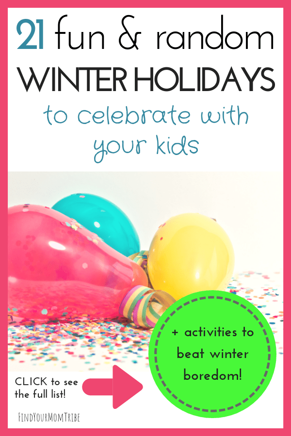 random holidays to celebrate with kids