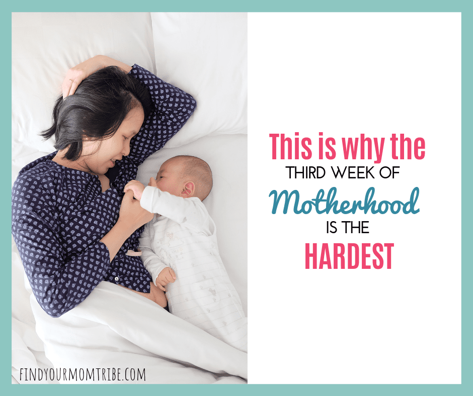 third week of motherhood with a newborn baby