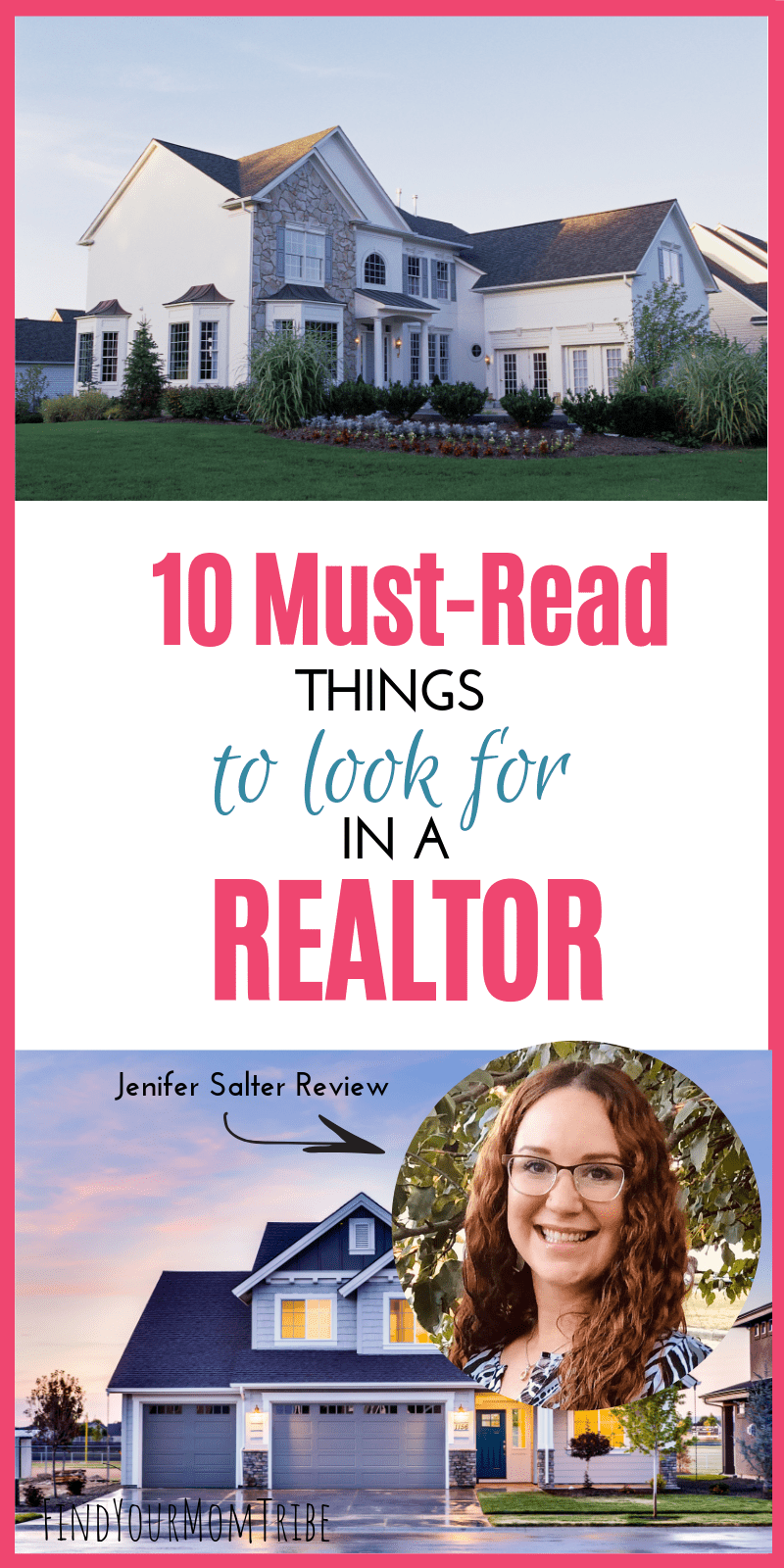 If you're house hunting, you'll want to be sure to choose the right realtor. Here are 10 things to look for + my review of realtor Jenifer Salter.