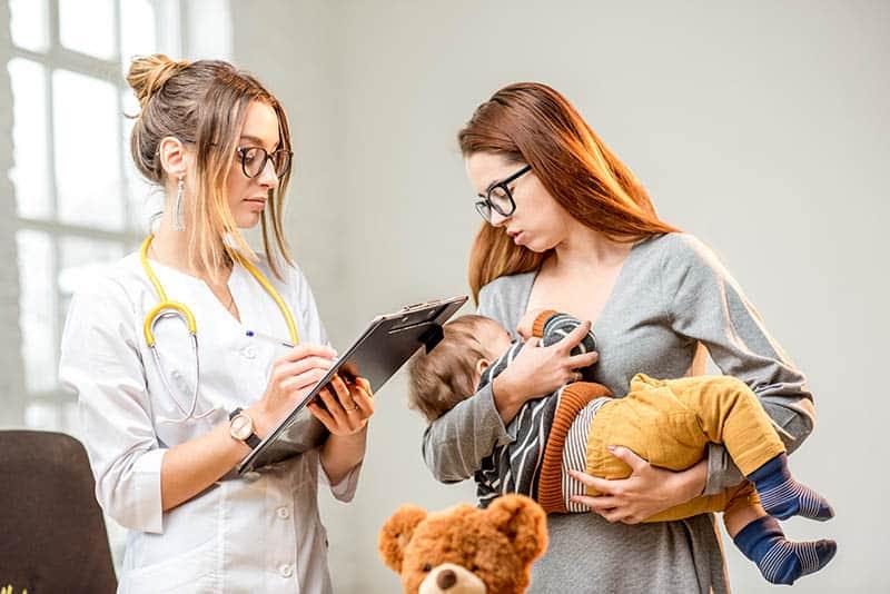 woman mother lactation consultant