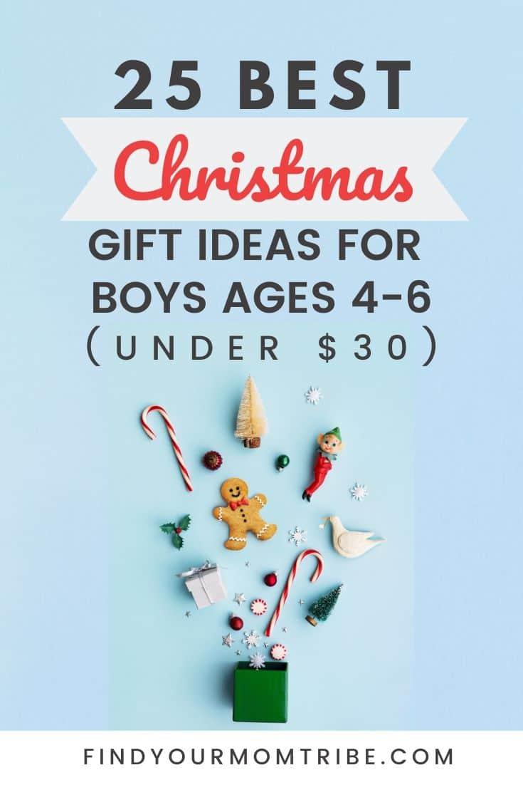 pinterest 25 Best Christmas Gift Ideas for Boys ages 4-6 (Under $30)