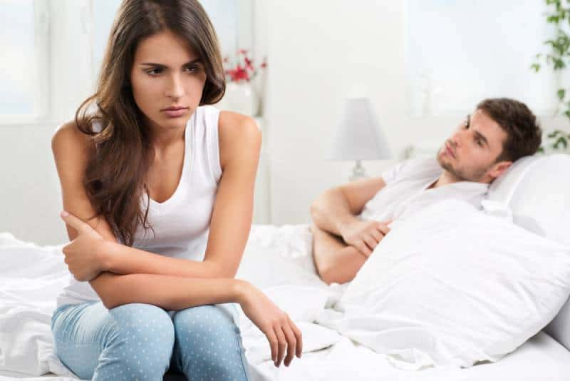 couple after arguing