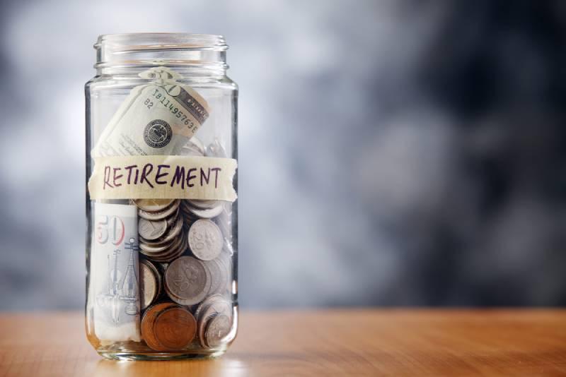 retirement savings in a jar