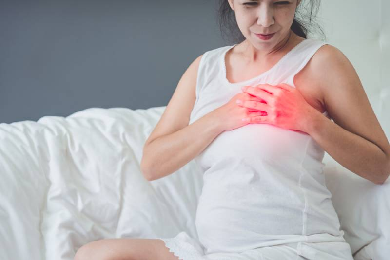 Pregnant woman with chest pain