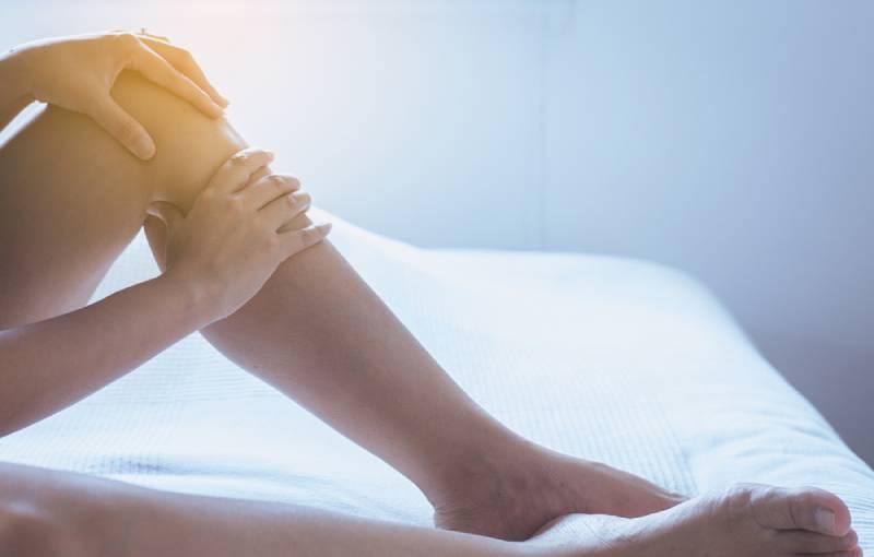 Varicose veins on woman's leg