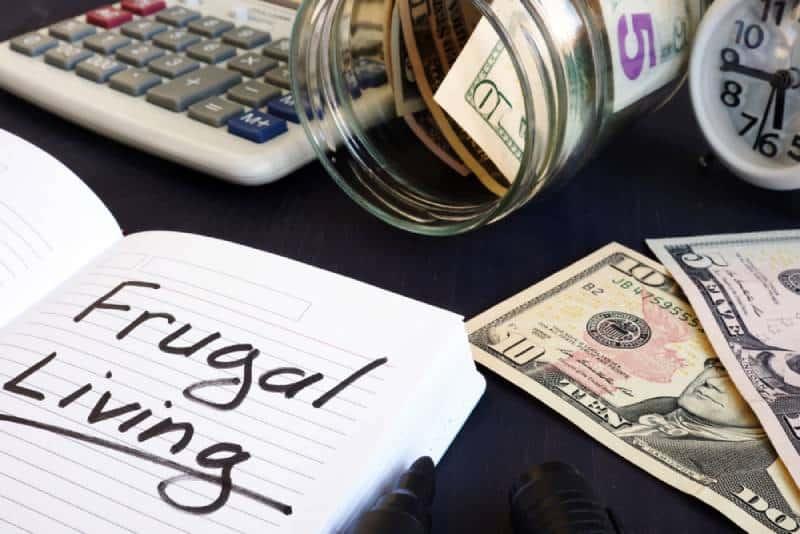 Embrace frugal living concept