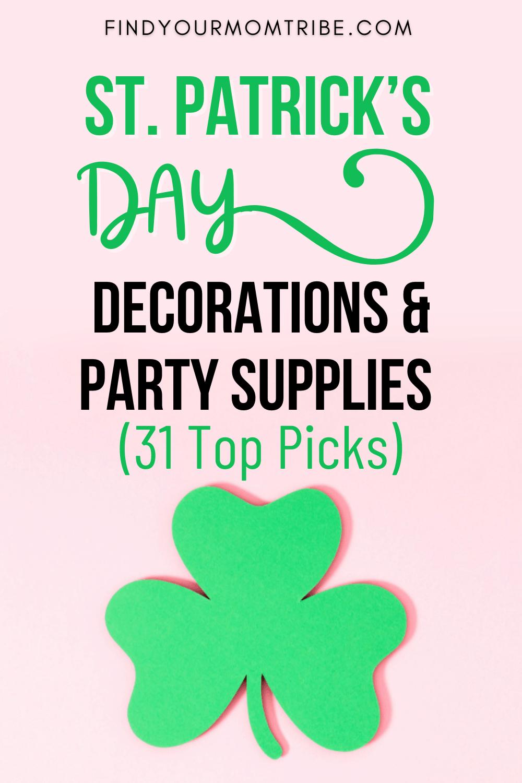Pinterest st patrick's day decorations