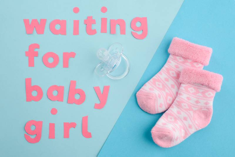 Waiting for baby girl poster