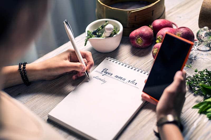 meal planning vegan menu