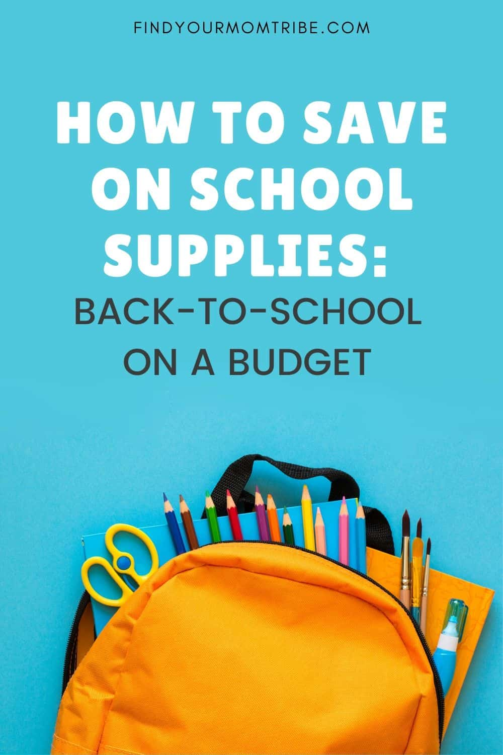 How To Save On School Supplies Pinterest
