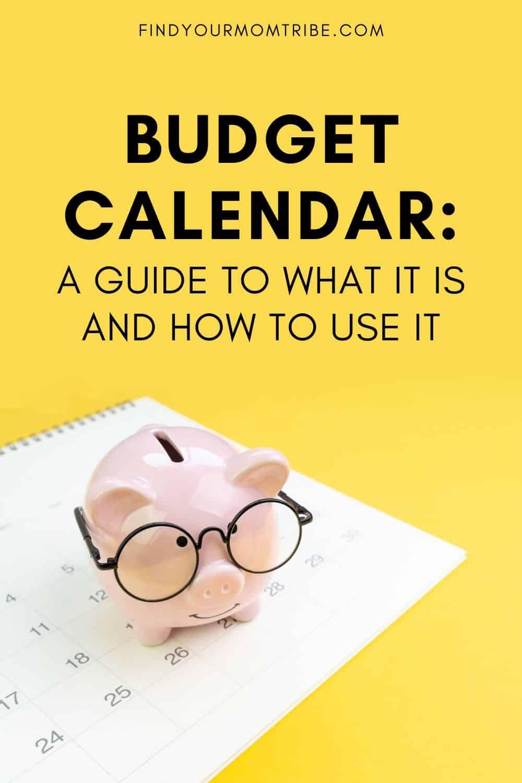 Pinterest Budget Calendar