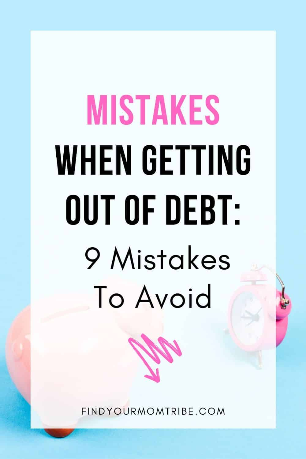 Pinterest Mistakes When Getting Out of Debt