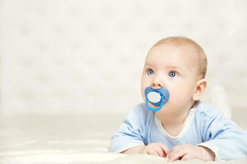 baby boy with pacifier