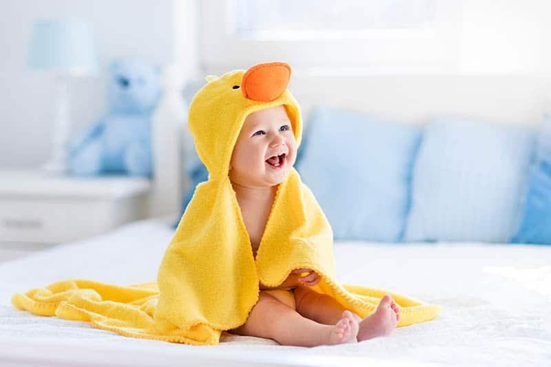 baby duck washcloth