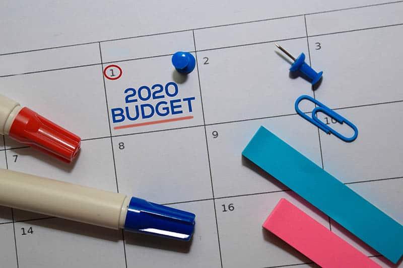 2020 budget calendar