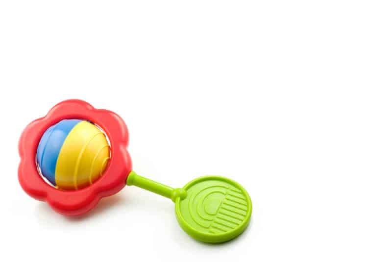 A colorful baby rattle