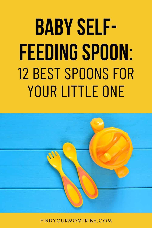 Baby Self-Feeding Spoon Pinterest