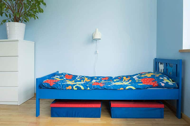 blue toddler boy baby bed