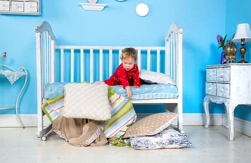 boy toddler in bed