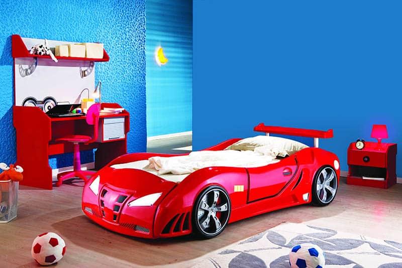 toddler boy bed race car