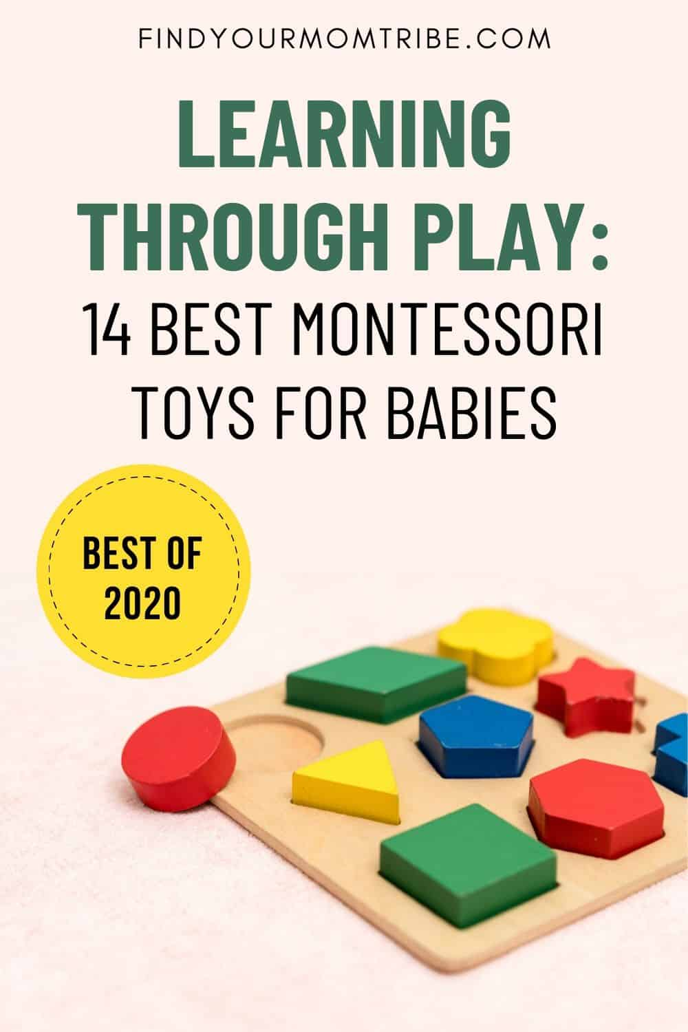 Learning Through Play Montessori Toys pinterest