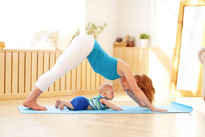 Mom & baby yoga classes