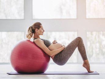 Pregnant Woman doing Pregnancy Workouts