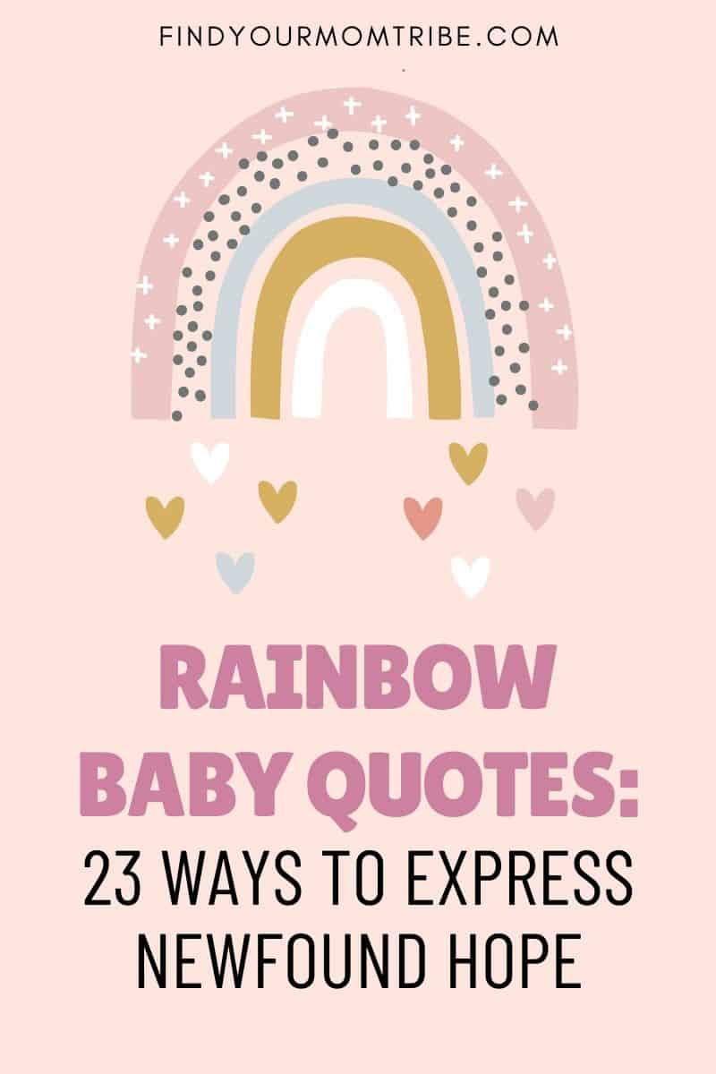 Rainbow Baby Quotes Pinterest
