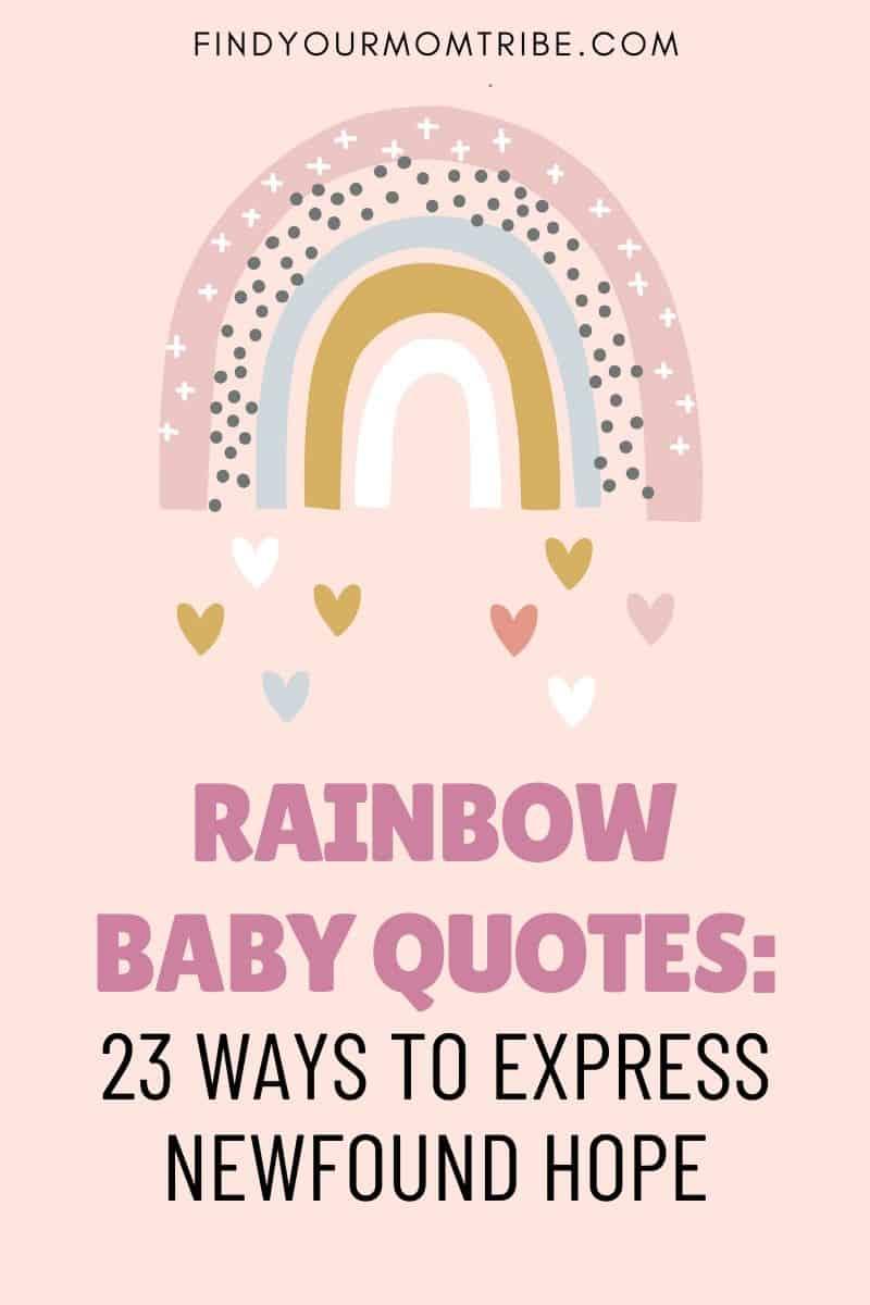 Rainbow Baby Quotes Pinterest